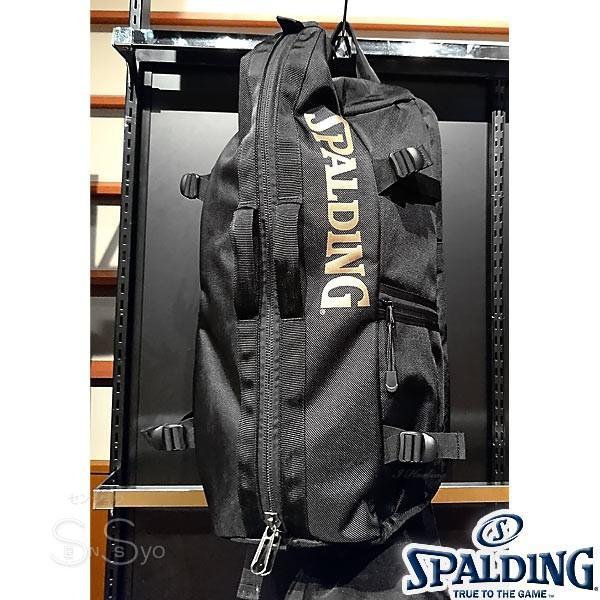 多機能バスケットボール バックパック SPALDING 大容量 ベクター ゴールド バッグ リュック メンズ レディース スポルディング 41-007GD|senssyo|02
