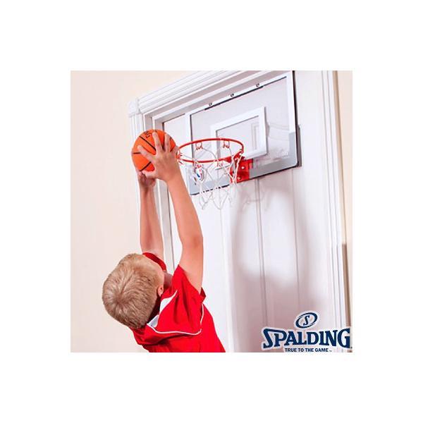 子供用バスケットゴール SPALDINGドア用スラムジャム バックボード ボール付 スポルディング56098CN senssyo 02