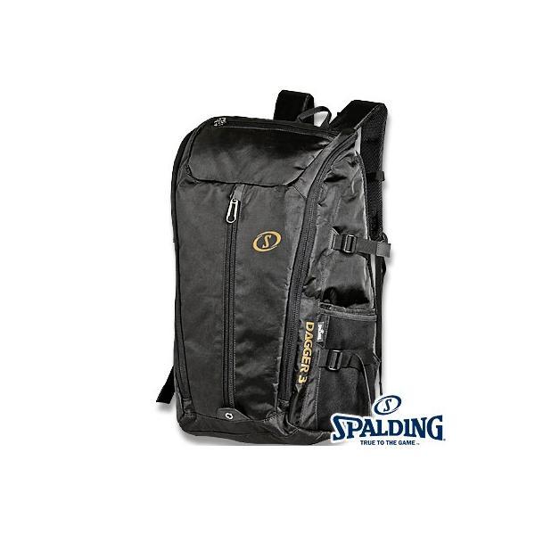 スポルディング ダガー3バックパック ブラックゴールド バスケットボール バッグ SPALDING40-015GD|senssyo