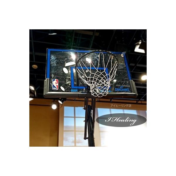 バスケットゴール バックボード スポルディング NBAロゴ ゲームタイム GAMETIME 家庭用 屋外 バスケ練習 お客さま組立 SPALDING 73655CN|senssyo|05