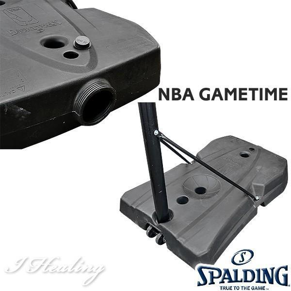 バスケットゴール バックボード スポルディング NBAロゴ ゲームタイム GAMETIME 家庭用 屋外 バスケ練習 お客さま組立 SPALDING 73655CN|senssyo|09