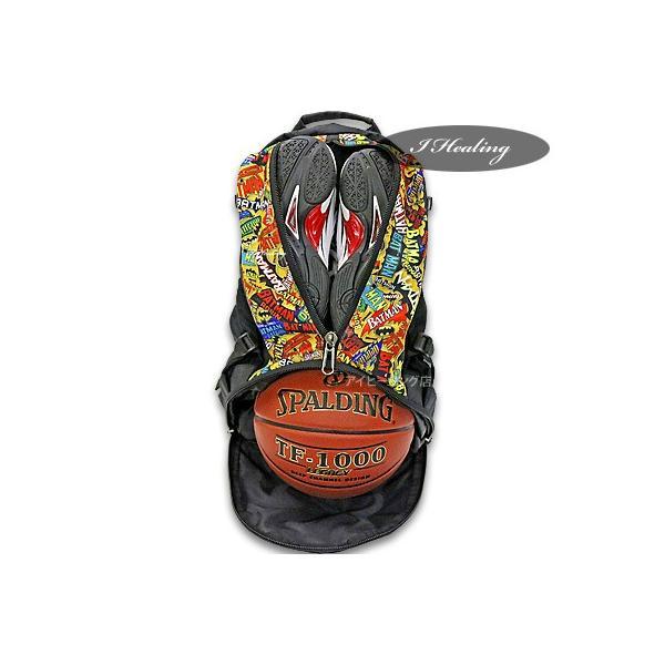 SPALDING ケイジャー バットマン マッシュ イエロー 40-007 バスケットボール バッグ スポーツ バスケ用バックパック リュック スポルディング CAGER 40-007BMM|senssyo|04