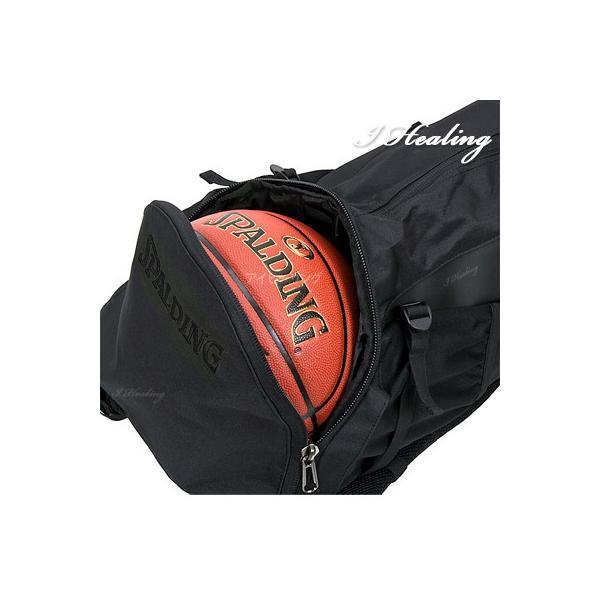 SPALDING ケイジャー ブラックブラック 40-007 バスケットボール バッグ スポーツ バスケ用バックパック リュック スポルディング CAGER 40-007BK|senssyo|04