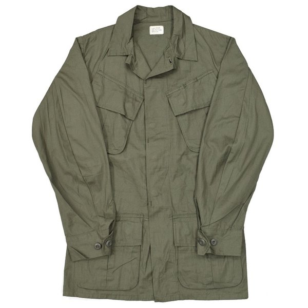 MILITARY(ミリタリー) DEAD STOCK(デッドストック) '60 U.S.ARMY JUNGLE FATIGUE JACKET(ジャングルファティーグ) with CUFF GUSSET(カフスガゼット付き) OLIVE