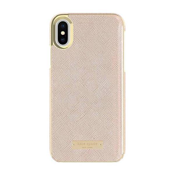kate spade new york(ケイトスペード)iPhone X / XS ケース(サフィアーノ ローズゴールド) serekuto-takagise