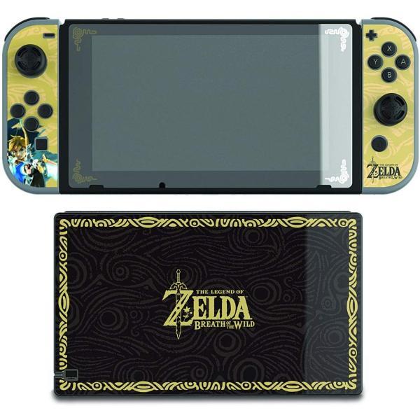 任天堂ライセンス商品 PDP Nintendo Switch スイッチ スキンシール&スクリーンプロテクター&アナログコントローラーキャップセット ゼルダ serekuto-takagise 02