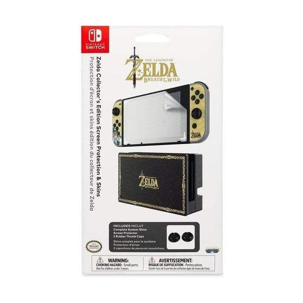 任天堂ライセンス商品 PDP Nintendo Switch スイッチ スキンシール&スクリーンプロテクター&アナログコントローラーキャップセット ゼルダ serekuto-takagise 07