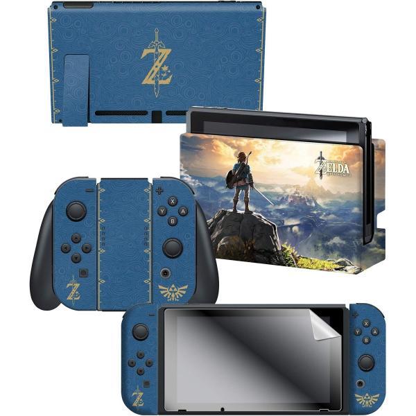 任天堂ライセンス商品 コントローラーギア Nintendo Switch スイッチ スキンシール&スクリーンプロテクターセット ゼルダの伝説 serekuto-takagise