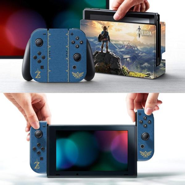 任天堂ライセンス商品 コントローラーギア Nintendo Switch スイッチ スキンシール&スクリーンプロテクターセット ゼルダの伝説 serekuto-takagise 02