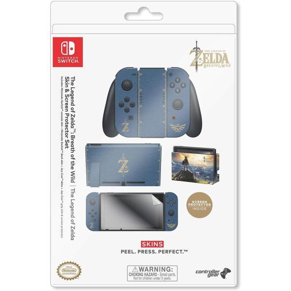 任天堂ライセンス商品 コントローラーギア Nintendo Switch スイッチ スキンシール&スクリーンプロテクターセット ゼルダの伝説 serekuto-takagise 06