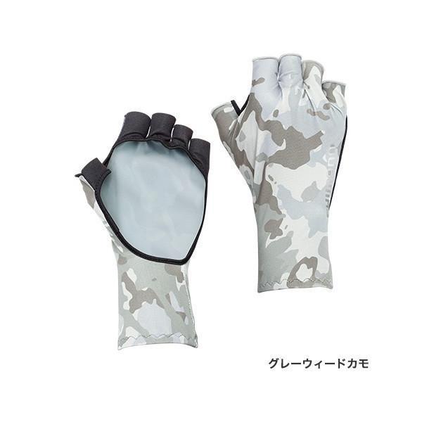 シマノ SUN PROTECTION グローブショート GL-048Q グレーウイードカモ XL|sessya