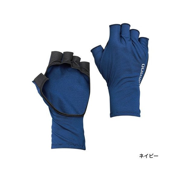 シマノ SUN PROTECTION グローブショート GL-048Q ネイビー XL|sessya