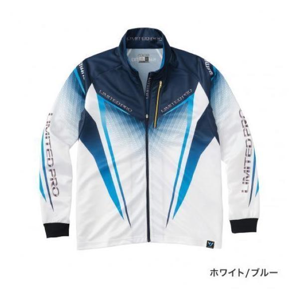 シマノ フルジップシャツLIMITED PRO(長袖) SH-011S ホワイト/ブルー 2XL|sessya