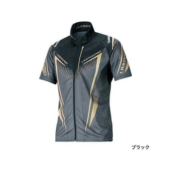 シマノ フルジップシャツLIMITED PRO(半袖) SH-012S ブラック L|sessya