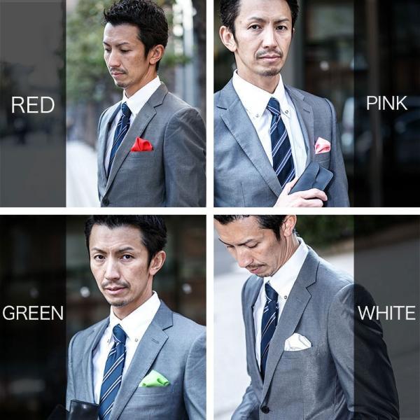 ポケットチーフ 日本製 結婚式 お試し 蛍光 カラー パーティー 冠婚葬祭 メンズ フォーマル チーフ ハンカチ|sete-luz|04