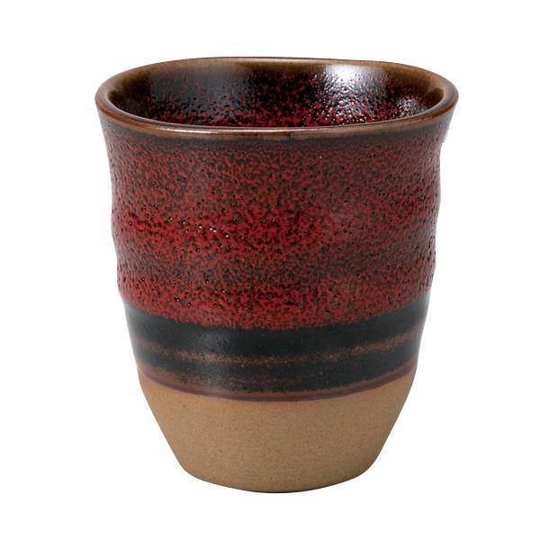 和食器 湯呑茶碗 / 赤柚子湯呑(大) 寸法:8.2×8.6cm 180cc