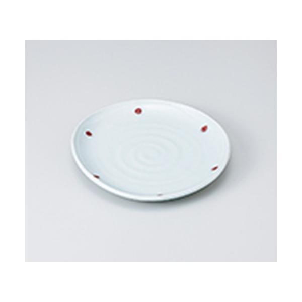 和皿 和食器 / 青磁紅玉たわみ5.0皿 寸法:15 x 14.5 x 2.1cm