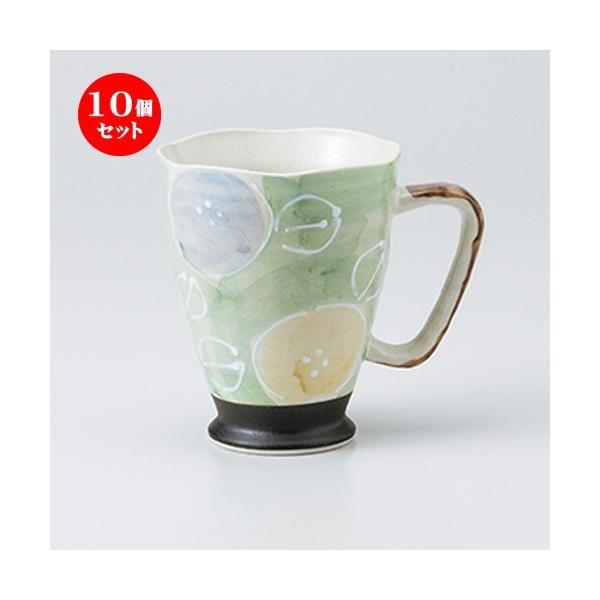 10個セットフリーカップ 軽々柚子一珍花ジョキー ヒワ [ 9.8 x 12cm ・ 420cc ] 【 料亭 旅館 居酒屋 和食器 飲食店 業務用 】