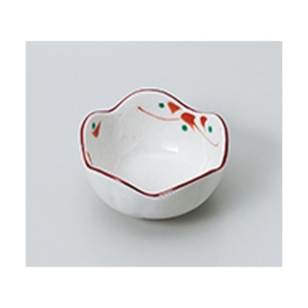 小付 和食器 / 赤絵小花梅型珍味 寸法:7.5 x 4cm
