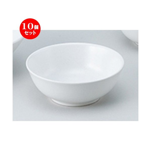 10個セット和陶オープン 白菫(しらすみ) 3.8取丼 [ 11.4 x 4.2cm ] 【 料亭 旅館 和食器 飲食店 業務用 】
