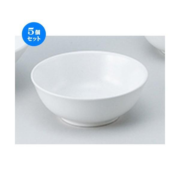 5個セット和陶オープン 白菫(しらすみ) 3.8取丼 [ 11.4 x 4.2cm ] 【 料亭 旅館 和食器 飲食店 業務用 】