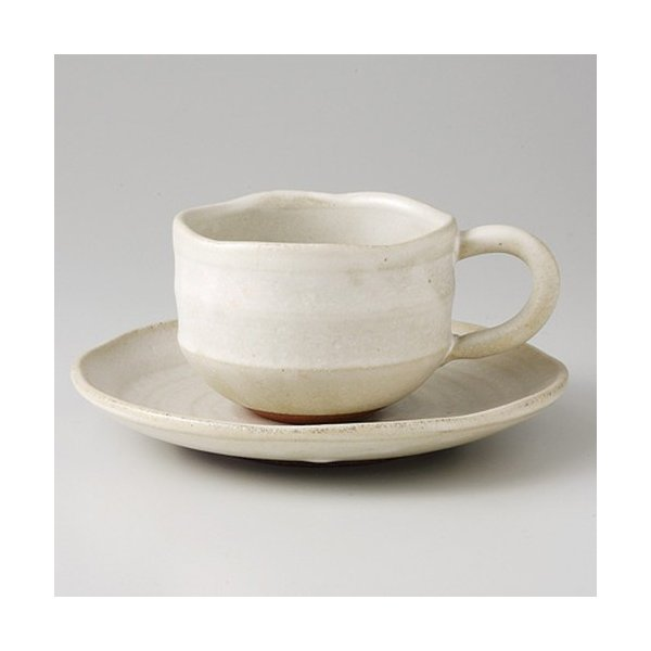 ☆ 和風コーヒーC/S ☆ 白柚子ゆったり コーヒーC/S [ 15 x 2.6cm 410g ] 【 カフェ レストラン 旅館 和食器 飲食店 業務用 来客用 】