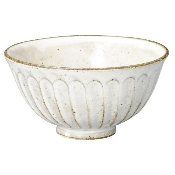 和食器 飯碗 / 粉引しのぎ茶碗 寸法: 12 x 6cm 200g