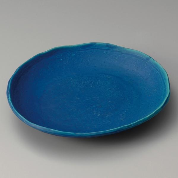 ☆ 麺皿カレー皿 ☆ トルコブルー楕円皿 [ 25.5 x 23 x 3.8cm ] 【 蕎麦屋 定食屋 飲食店 和食器 業務用 】
