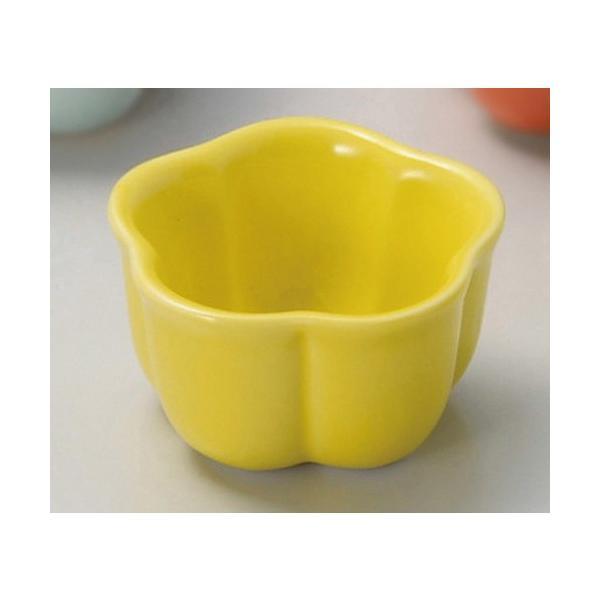 ☆ 珍味 ☆ 黄釉梅型珍味(小) [ 5 x 2.8cm ] 【 料亭 旅館 和食器 飲食店 業務用 】