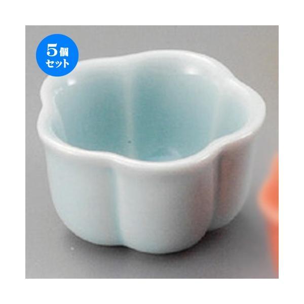5個セット ☆ 珍味 ☆ 梅型珍味青磁(小) [ 50 x 28mm ] 【料亭 旅館 和食器 飲食店 業務用 】