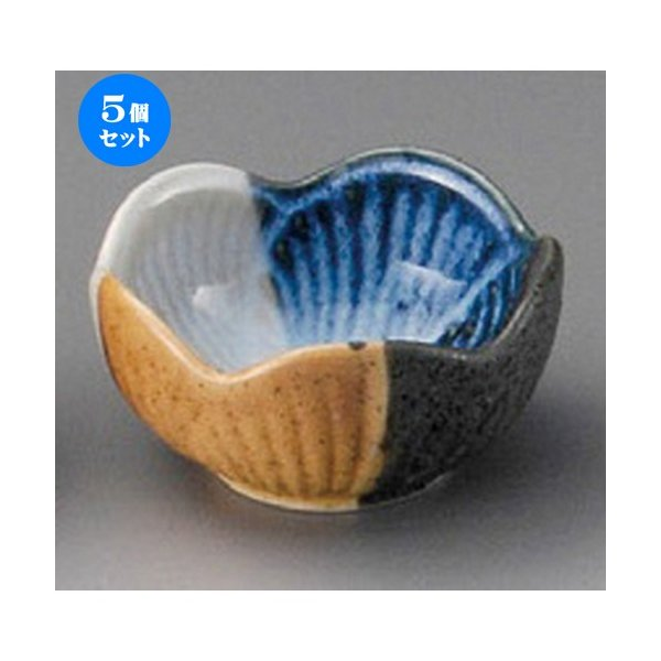 5個セット ☆ 珍味 ☆ 塗り分梅型珍味 [ 65 x 35mm ] 【料亭 旅館 和食器 飲食店 業務用 】