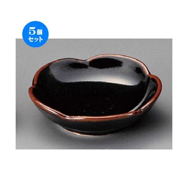 5個セット ☆ 珍味 ☆ 梅小皿黒 [ 85 x 25mm ] 【料亭 旅館 和食器 飲食店 業務用 】