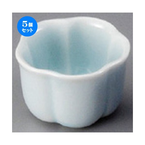 5個セット ☆ 珍味 ☆ 青磁(3.5cm)梅形豆珍味 [ 35 x 25mm ] 【料亭 旅館 和食器 飲食店 業務用 】