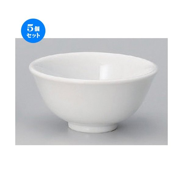 5個セット ☆ 中華小物 ☆厚口3.4スープ碗 [ 10.2 x 5cm 157g ] 【 ラーメン店 中華食器 飲食店 業務用 】