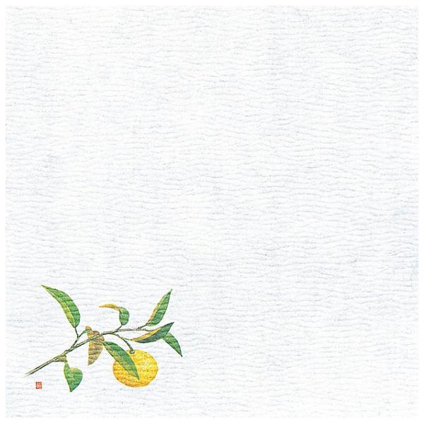 5寸 グルメ敷紙 100枚入 柚子(10月〜12月) [ 約15 x 15cm ] 【 敷紙 】 | 旅館 料亭 ホテル 宴会 懐石 和食 イベント 業務用