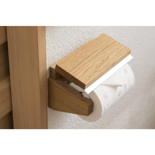トイレットペーパーホルダー木製 材質、色おまかせ♪シンプルなデザイン setoshikkui-no1