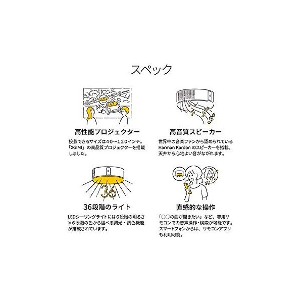popIn Aladdin ポップインアラジン プロジェクター付きシーリングライト/高音質スピーカー/36段階調光調色|settaroponpon|05