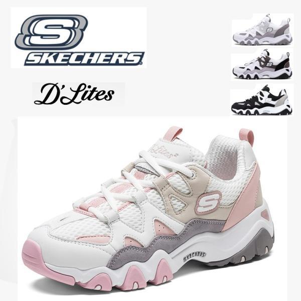 eac7771c50ddf スケッチャーズ SKECHERS スニーカー D LITES DLT-A レディース パンダシューズ メンズ スポー ランニング 靴