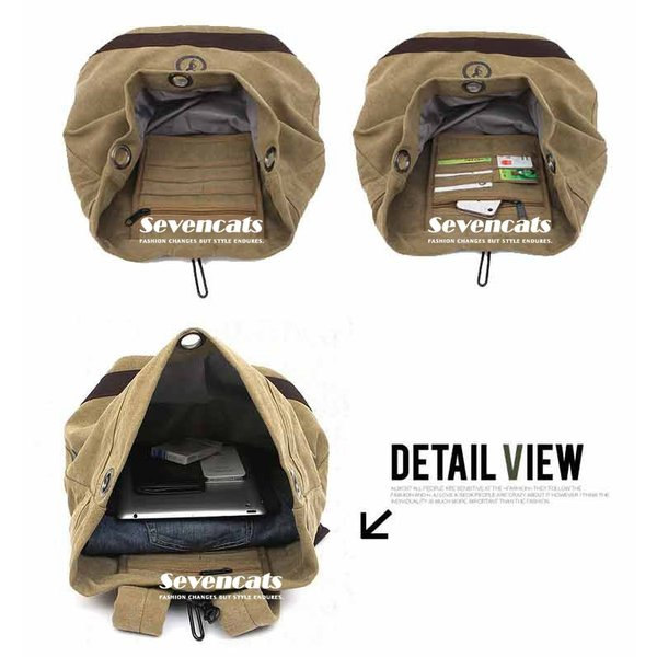 リュックサック デイパック メンズ 帆布バッグ キャンバス 人気 バッグ メンズ 通勤 メンズバッグ カジュアルバッグ カバン アウトドア 新作 布製 送料無料|sevencats|16