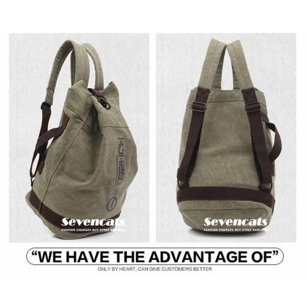 リュックサック デイパック メンズ 帆布バッグ キャンバス 人気 バッグ メンズ 通勤 メンズバッグ カジュアルバッグ カバン アウトドア 新作 布製 送料無料|sevencats|10