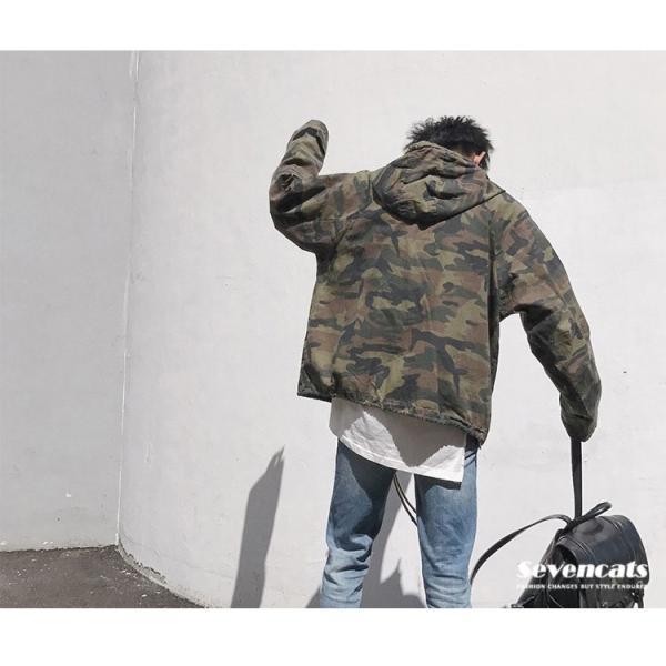 ジャケット メンズ 迷彩ジャケット ミリタリージャケット メンズ アウター メンズジャケット フード付き 秋 新作 送料無料|sevencats|08