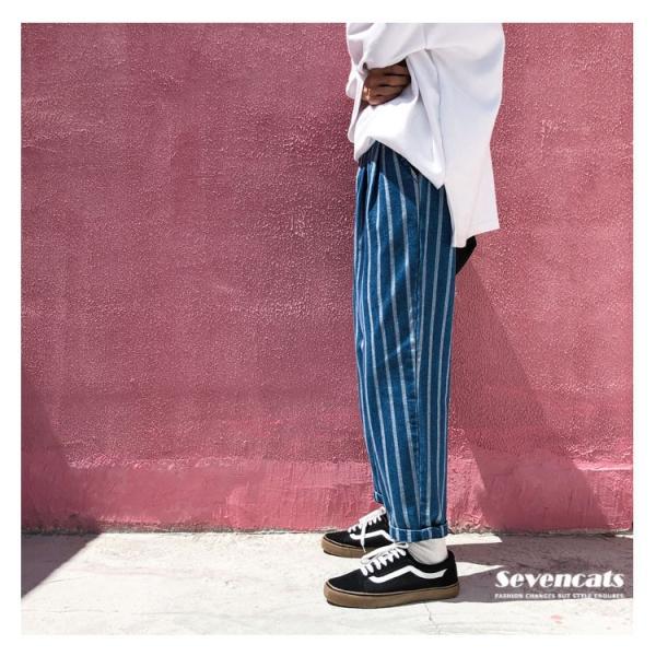 メンズ デニムパンツ ジーンズ スキニーデニム ゆとり ロングパンツ ズボン メンズ テーパード ジーパン 送料無料|sevencats|07
