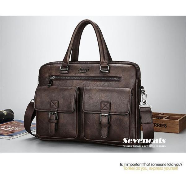 ブリーフケース メンズ ビジネスバッグ ショルダーバッグ レザーバッグ カバン 通勤バッグ 2way 斜めがけ 大容量 鞄 送料無料|sevencats|12