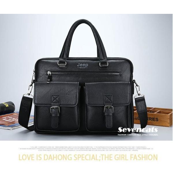 ブリーフケース メンズ ビジネスバッグ ショルダーバッグ レザーバッグ カバン 通勤バッグ 2way 斜めがけ 大容量 鞄 送料無料|sevencats|15