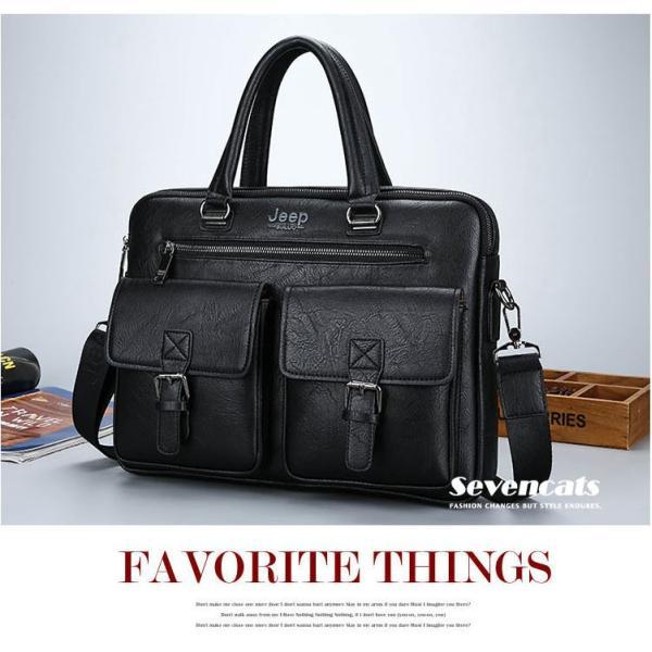 ブリーフケース メンズ ビジネスバッグ ショルダーバッグ レザーバッグ カバン 通勤バッグ 2way 斜めがけ 大容量 鞄 送料無料|sevencats|16