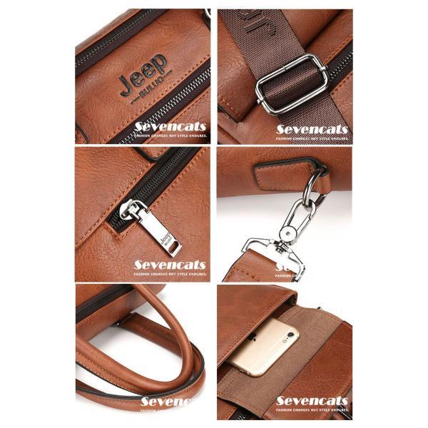 ブリーフケース メンズ ビジネスバッグ ショルダーバッグ レザーバッグ カバン 通勤バッグ 2way 斜めがけ 大容量 鞄 送料無料|sevencats|18