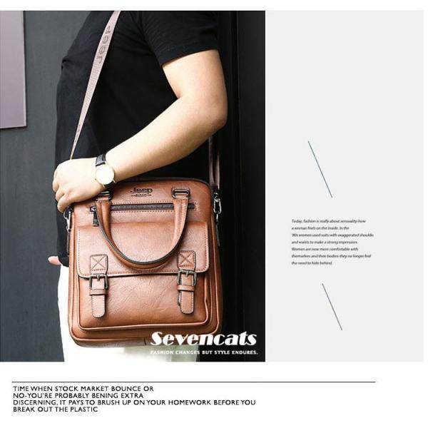 ブリーフケース メンズ ビジネスバッグ ショルダーバッグ レザーバッグ カバン 通勤バッグ 2way 斜めがけ 大容量 鞄 送料無料|sevencats|03