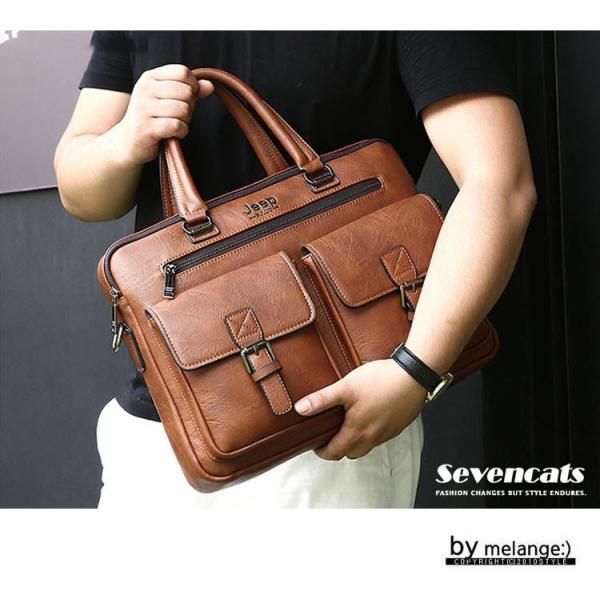 ブリーフケース メンズ ビジネスバッグ ショルダーバッグ レザーバッグ カバン 通勤バッグ 2way 斜めがけ 大容量 鞄 送料無料|sevencats|05