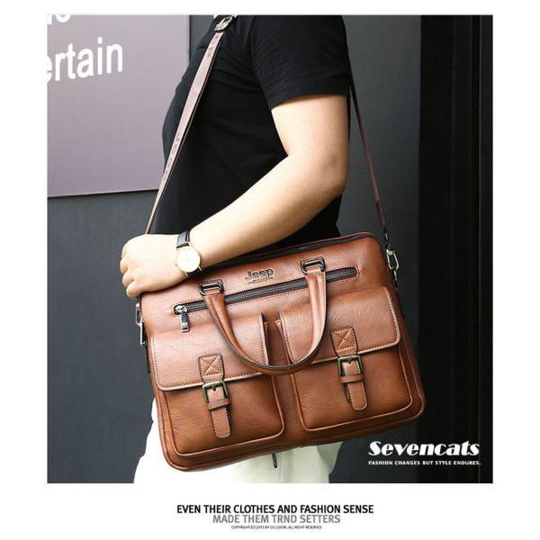ブリーフケース メンズ ビジネスバッグ ショルダーバッグ レザーバッグ カバン 通勤バッグ 2way 斜めがけ 大容量 鞄 送料無料|sevencats|06