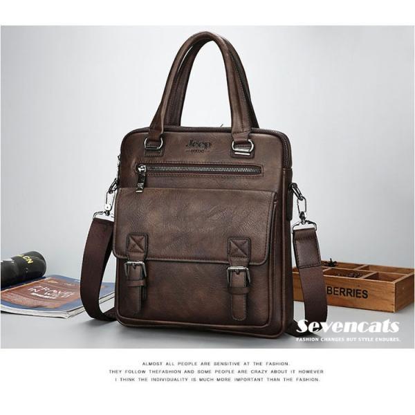 ブリーフケース メンズ ビジネスバッグ ショルダーバッグ レザーバッグ カバン 通勤バッグ 2way 斜めがけ 大容量 鞄 送料無料|sevencats|08